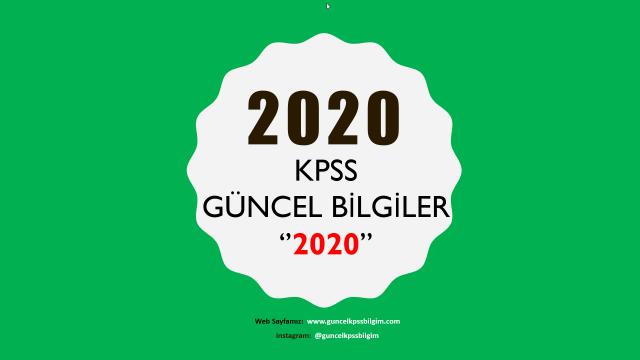 """2020 Kpss Güncel Bilgiler """"2020"""" PDF İndir"""