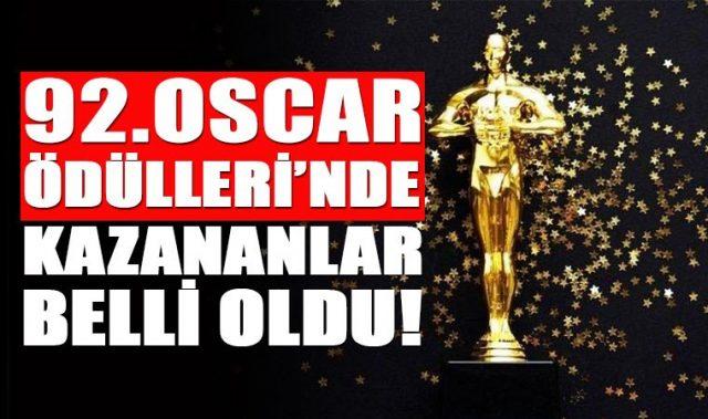 2020 Yılı 92. Oscar Ödülünü Kazananlar