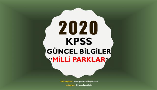"""2020 KPSS Güncel Bilgiler """"Milli Parklar"""" PDF İndir"""