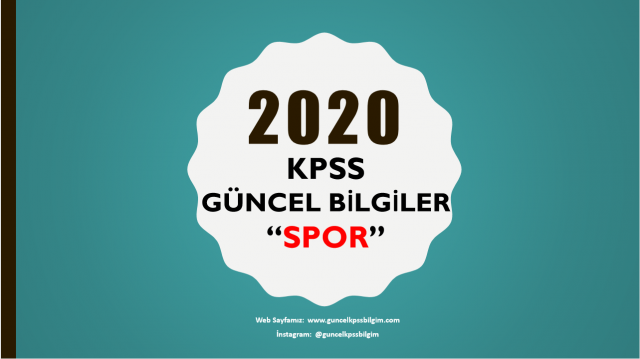"""2020 Kpss Güncel Bilgiler """"SPOR"""" PDF İndir"""