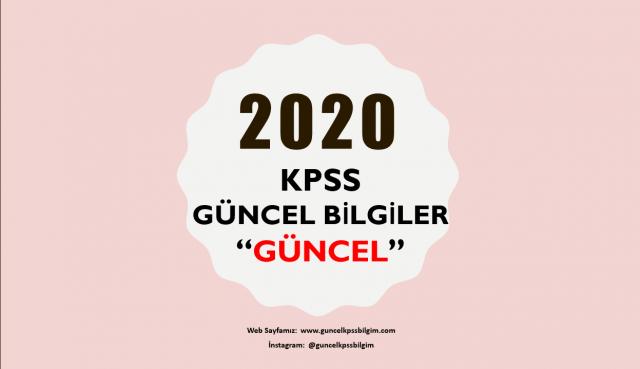 """2020 KPSS Güncel Bilgiler """"Güncel"""" PDF İndir"""