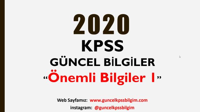 2020 Kpss güncel bilgiler pdf indir