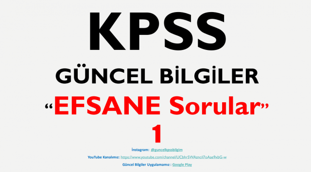 """2020 KPSS Güncel Bilgiler """"EFSANE Sorular 1"""" PDF İndir"""