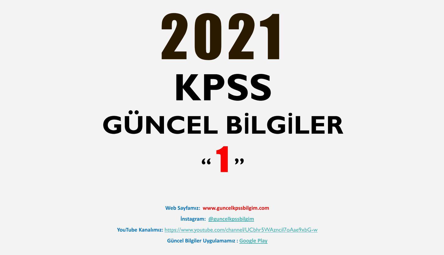 2021 KPSS Güncel Bilgiler 1 PDF İndir