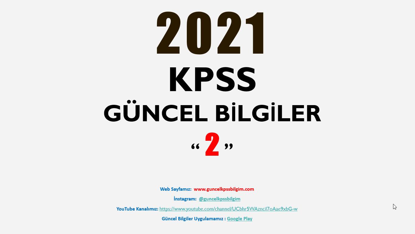 2021 KPSS Güncel Bilgiler 2 PDF İndir