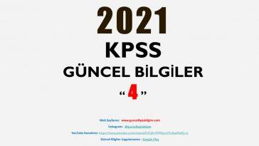 2021 KPSS Güncel Bilgiler 4 PDF İndir
